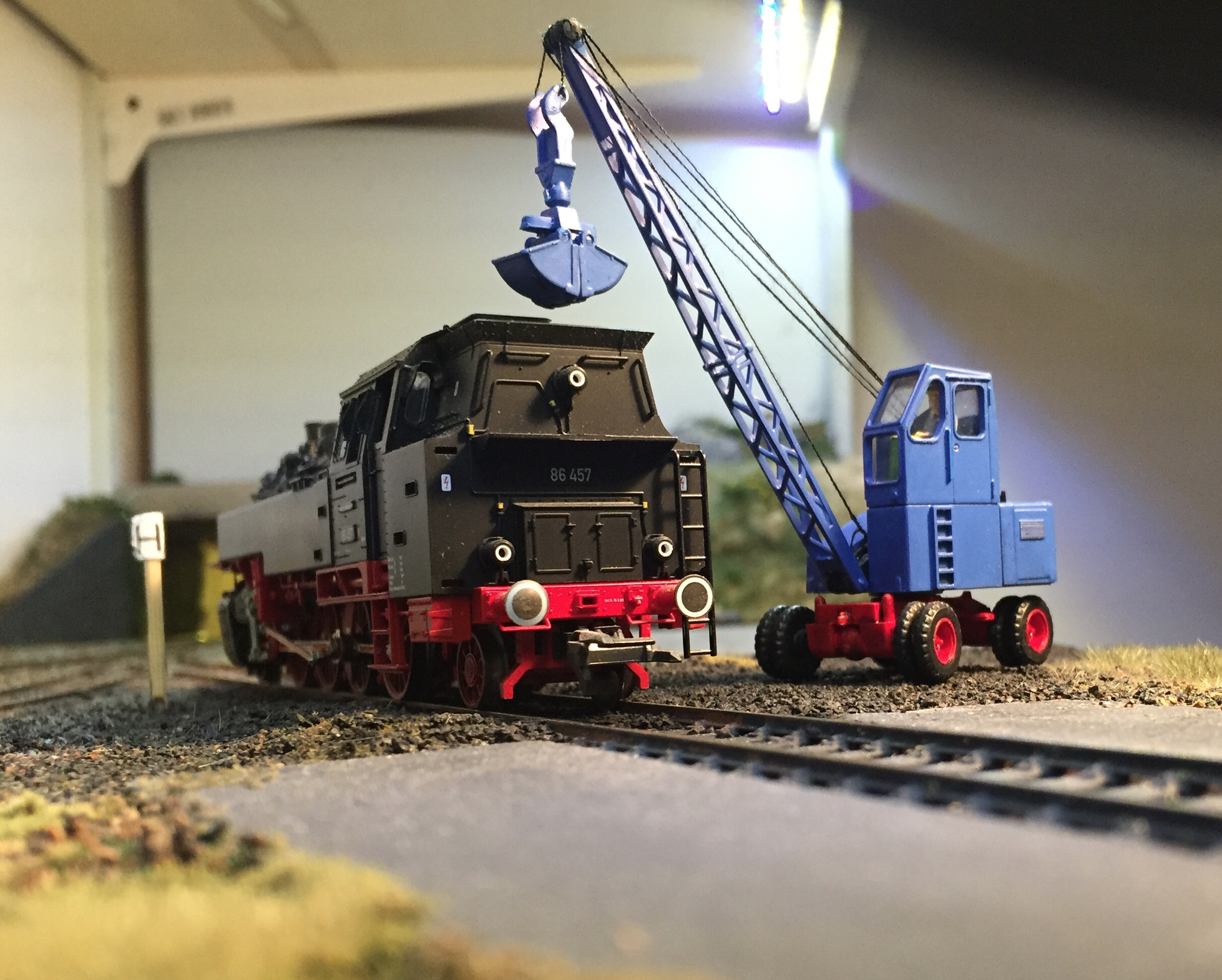 Steam loco loading coal