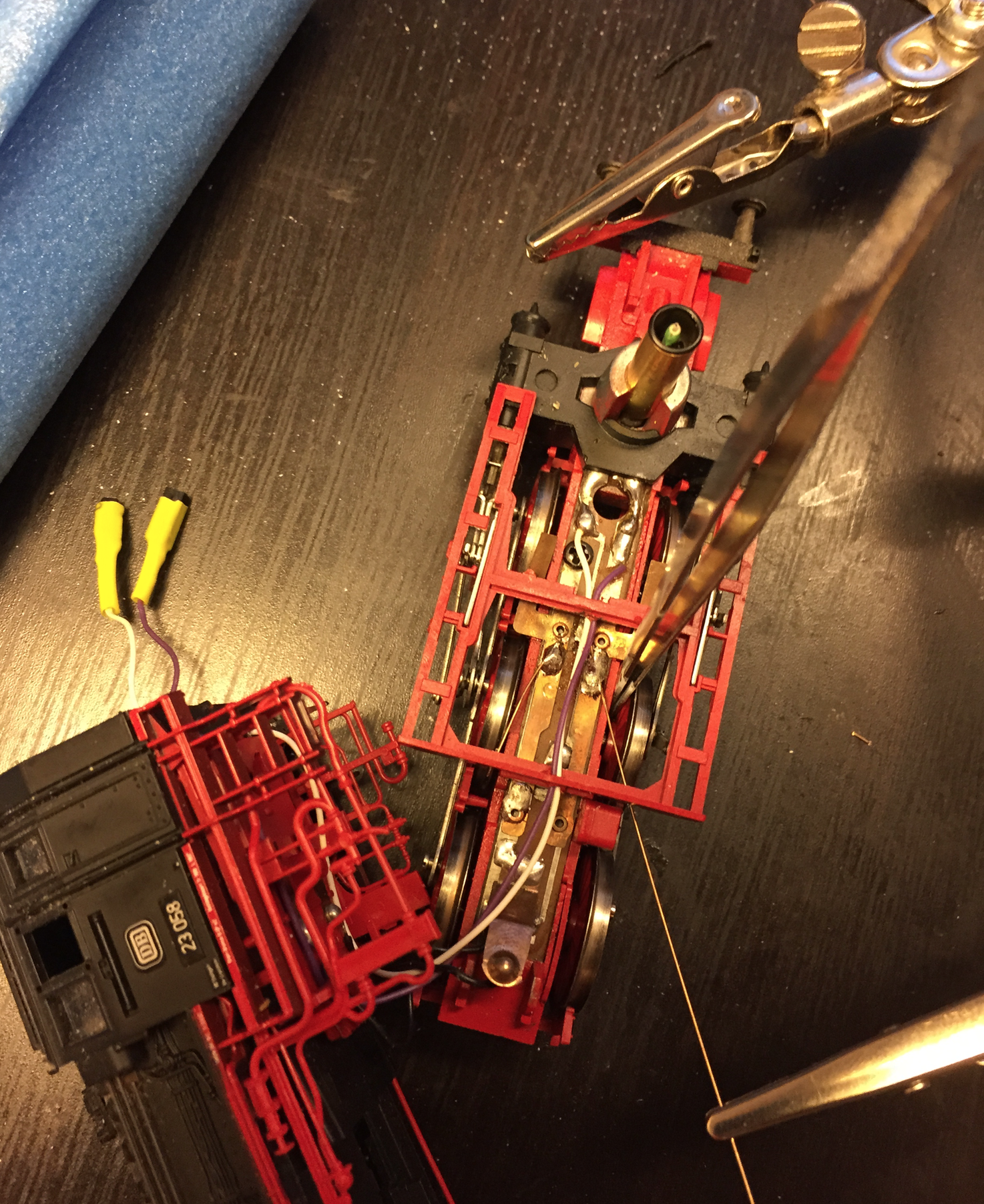 Repairing a locomotive